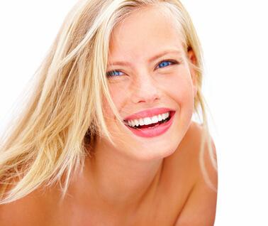 Portrait of a pretty woman smiling
